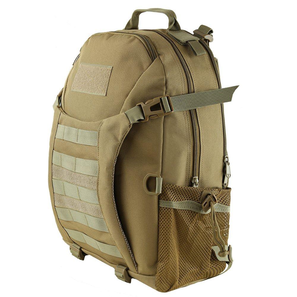 HUKOER Mochila táctica Macuto de montañismo militar -35 Litro al aire libre Material a prueba del agua hasta 600D Oxford- Bolsa de viaje/ excursión/marcha- ...