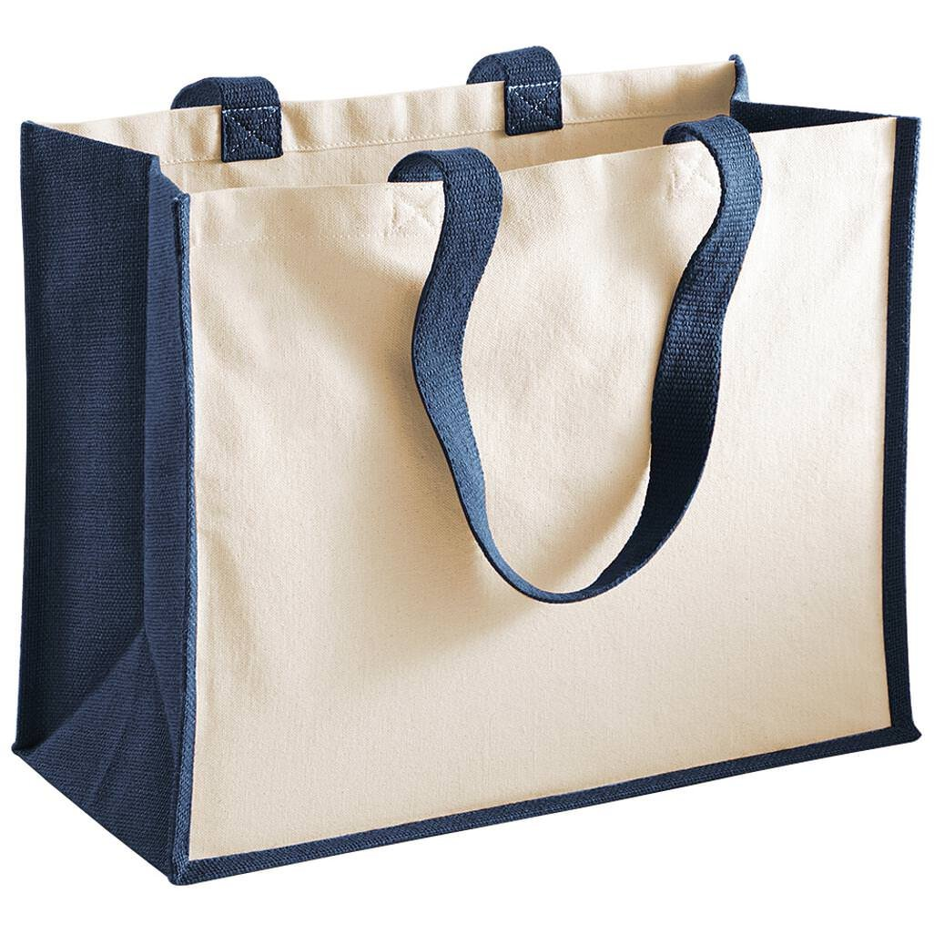 Westford Mill Printers Jute Classic Shopping Bag - 5 Colours Available