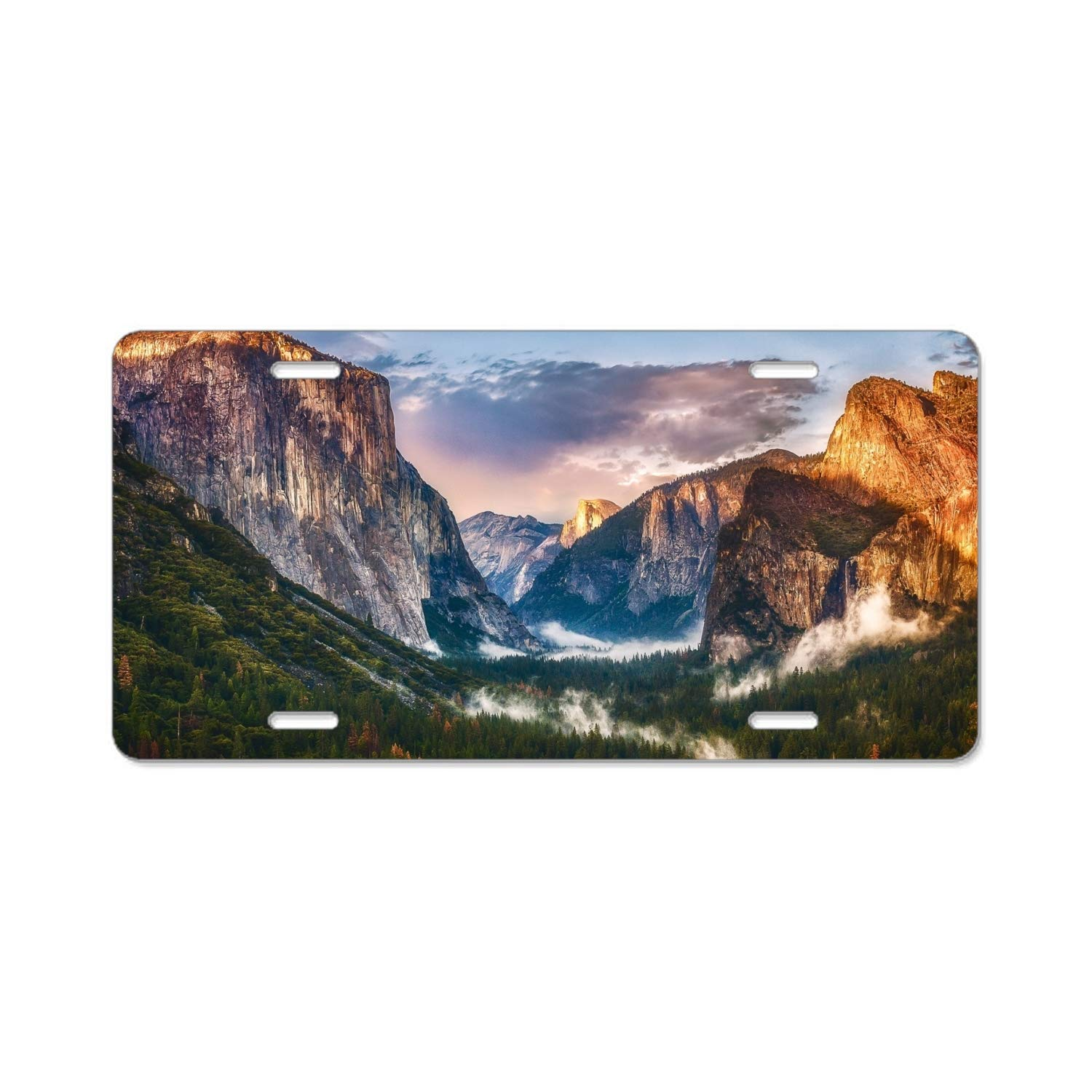 License Plate Covers & Frames KSLIDS Landscape Cliff Mountain Valley Forest Car Vehicle License Plate Metal Tin Sign Plaque License Plate Covers & Frames