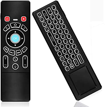 KingLeChange T6 Pro Air Mouse 2.4GHz Mini Teclado Inalámbrico con panel Táctil Control Remoto Retroiluminado Lo mejor para Android TV Box, Kodi TV Box, Google TV Stick, Smart TV y más: Amazon.es: