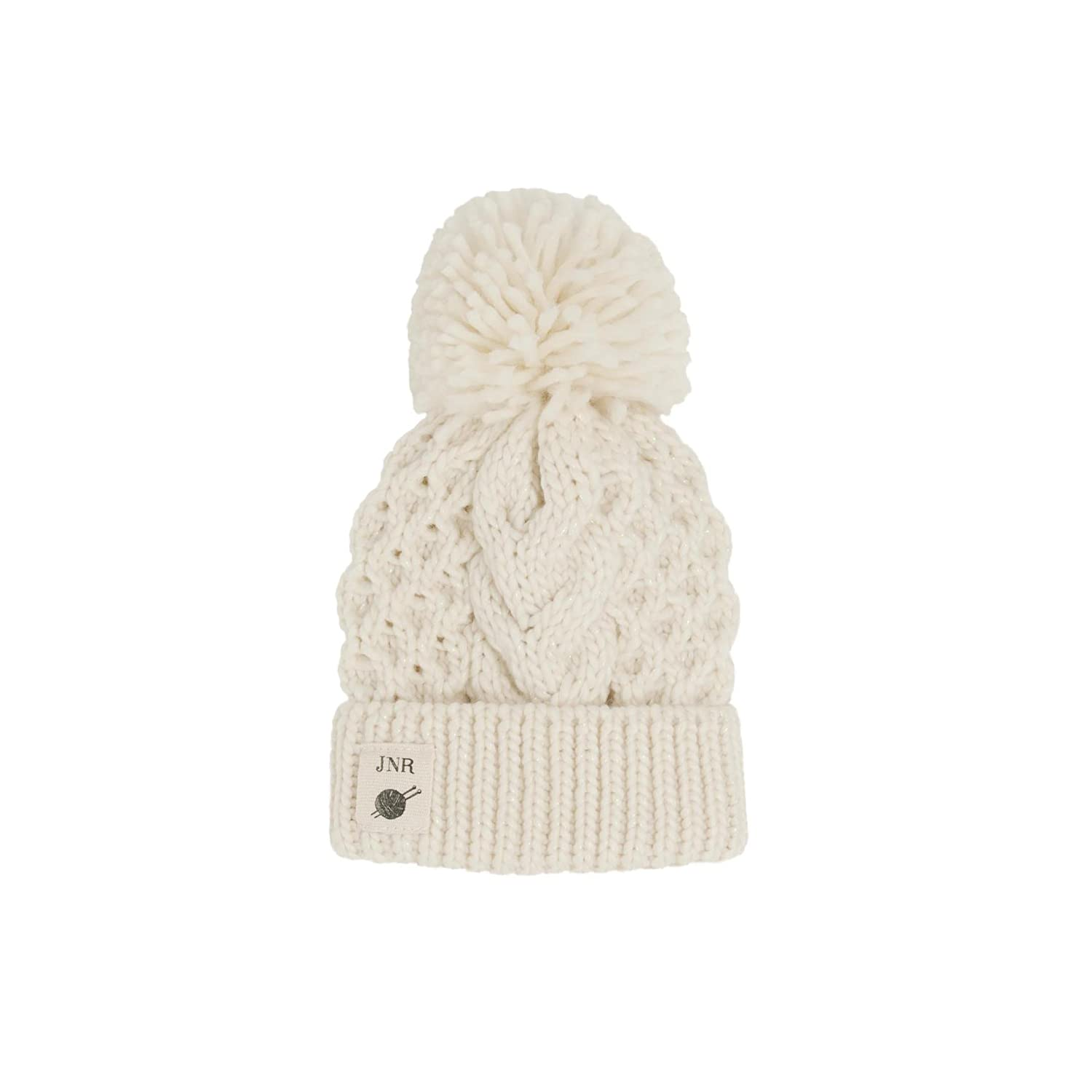 dc702e631f4 Kids Aran Cable Big Yarn Pom Pom Hat