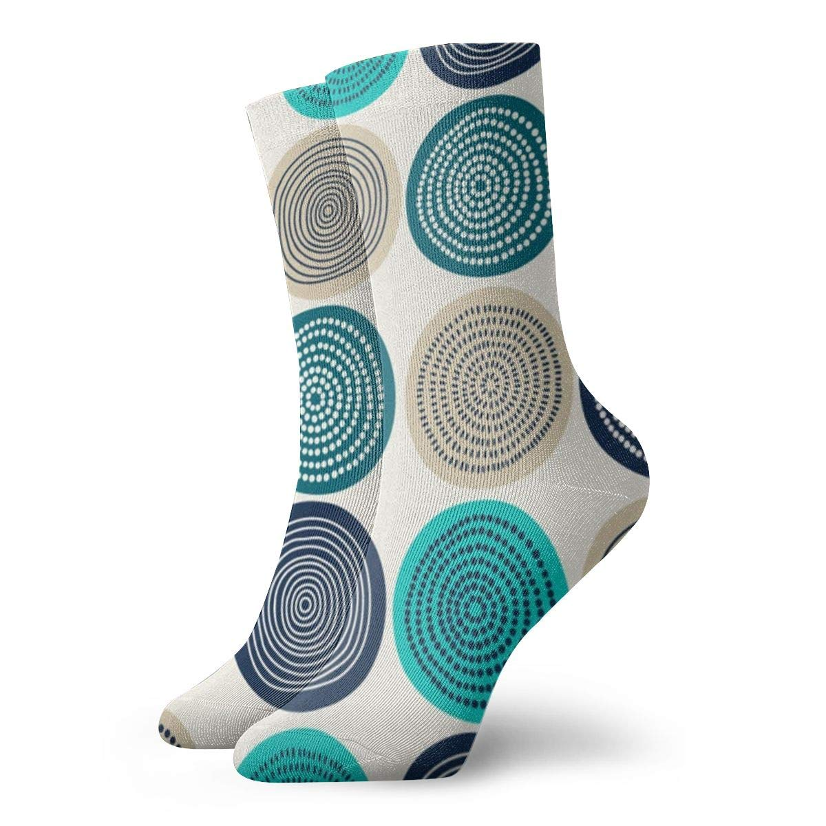 Abstract Circles Unisex Funny Casual Crew Socks Athletic Socks For Boys Girls Kids Teenagers