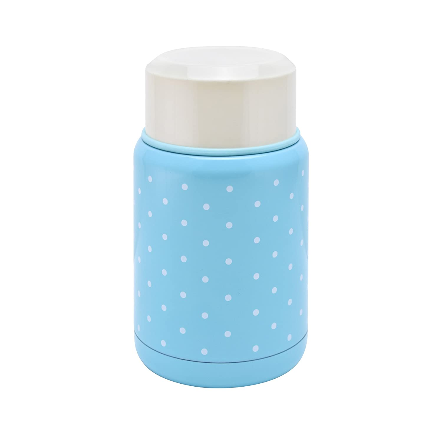 ecHome Stainless Steel 0.5L Vacuum Food & Soup Flask (Baby Blue/Baby Pink)