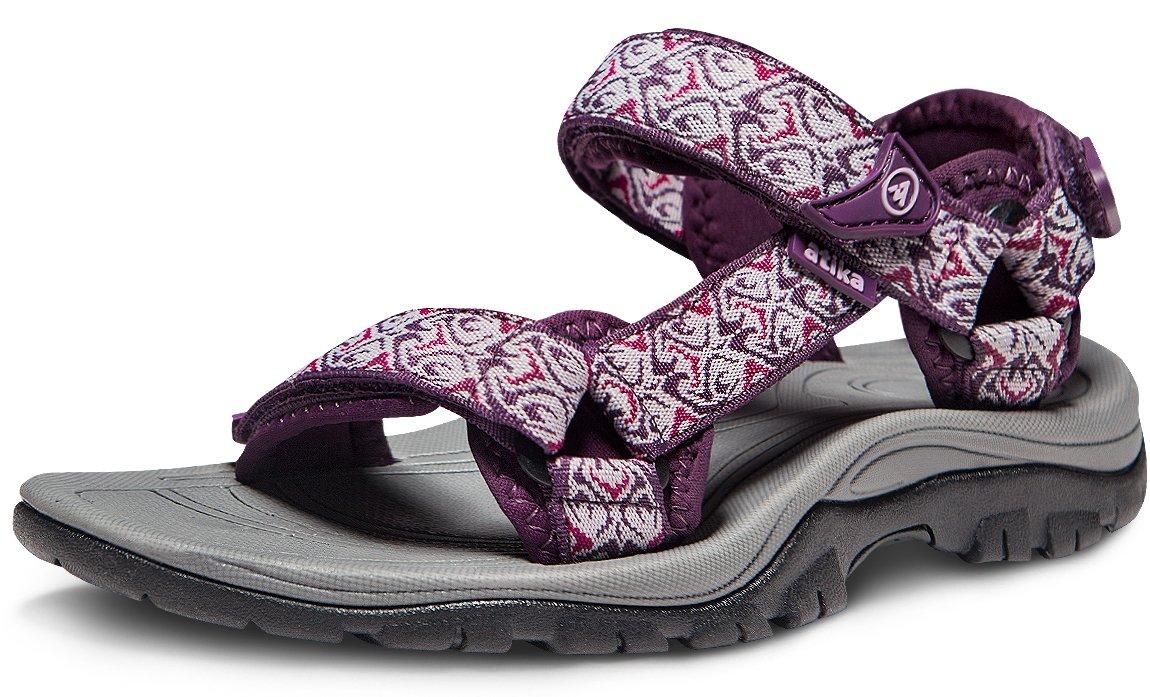 ATIKA AT-W111-MGT_Women 7 B(F) Women's Maya Trail Outdoor Water Shoes Sport Sandals W111