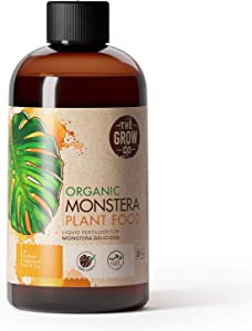 Organic Monstera Plant Food - Liquid Fertilizer for Indoor and Outdoor Monstera Plants - Nutrients for Healthy Tropical Leaves and Steady Growth (8 oz)