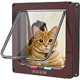 Sailnovo Katzenklappe Hundeklappe 4 Wege Magnet-Verschluss für Katzen, große Hunde 23.5 * 25 * 5.4cm Hundetür Katzentür Haustierklappe, Installieren Leicht mit Teleskoprahmen