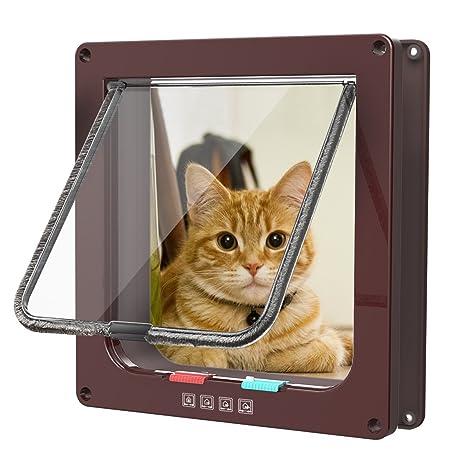 Sailnovo gato Tapa Perros Tapa 4 Vías Imán de Cierre para gatos, perros grandes 23.5