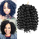 3Packs 2X Ringlet Wand Curl Jamaican Bounce 8 inch Synthetic Crochet Hair Extensions Havana Mambo Twist Braiding Hair 20…