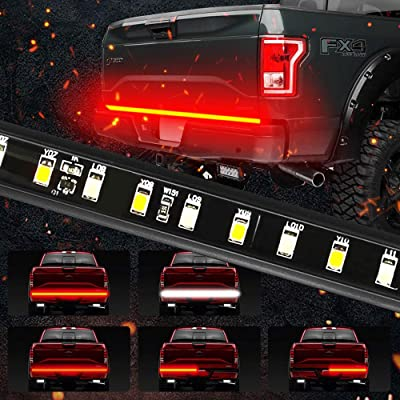 """MIHAZ 5-Function 60"""" LED Truck Tailgate Light Bar 3528-90LED Waterproof IP67 Strip Light Running, Turn Signal, Brake, Reverse Light for Jeep Dodge Ford F-150 Pickup Trailer, Red/White, 1 Yr Warranty: Automotive"""
