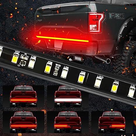 Mihaz 5 Function 60 Led Truck Tailgate Light Bar 3528 90led Waterproof Ip67 Strip Light Running Turn Signal Brake Reverse Light For Jeep Dodge