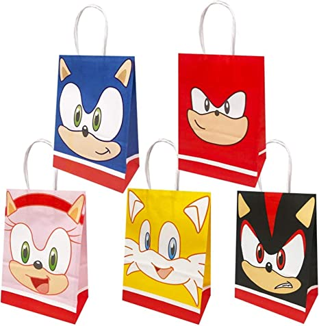 Amazon Com 20 Packs Sonic The Hedgehog Party Gift Bags Sonic The Hedgehog Gift Bags Party Supplies For Kids Sonic The Hedgehog Themed Party Birthday Decoration Gift Bags Well For Girls Or Boys