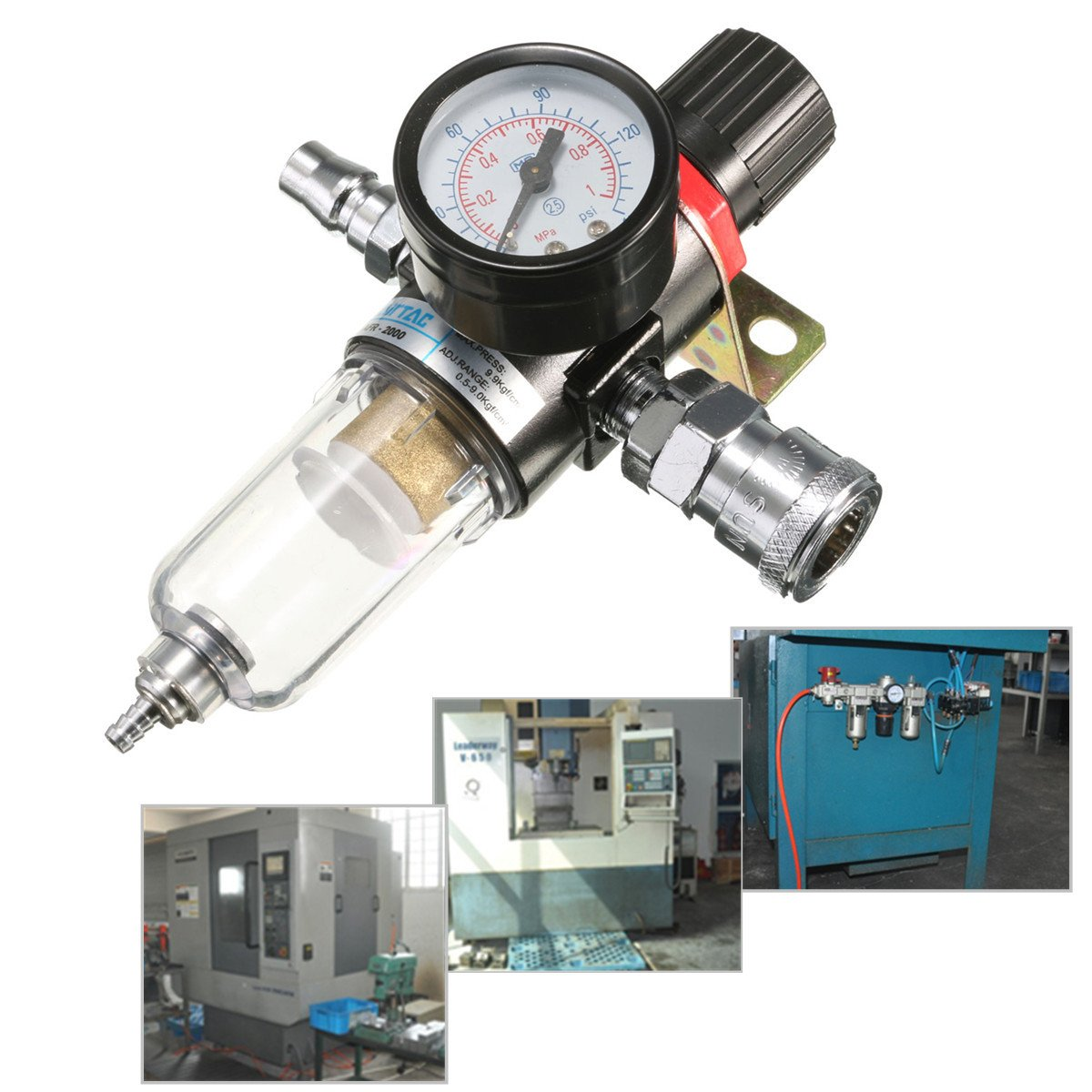 QOJA afr-2000 1/4'' air compressor filter water separator trap by QOJA (Image #3)