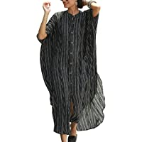 YouKD Women's Summer Long Kaftan Maxi Bohemian Dress Beach Coverup Robe Plus Size Kimono One Size