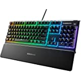 SteelSeries Apex 3 Water Resistant Gaming Keyboard, Black, 64795