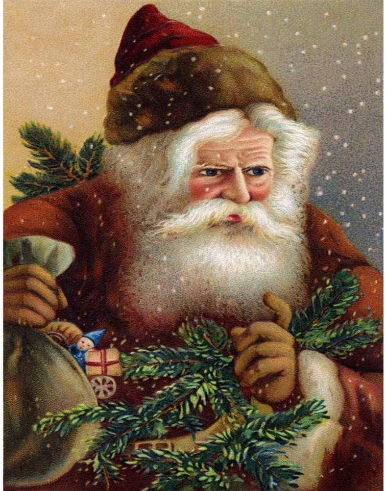 3040cm//11.815.7inch, Santa Claus Wizland 5D DIY Painting Full Drill Round Resin Beads Pictures Women Beauty of Crystals Painting Kits,Arts Crafts /& Sewing Cross Stitch