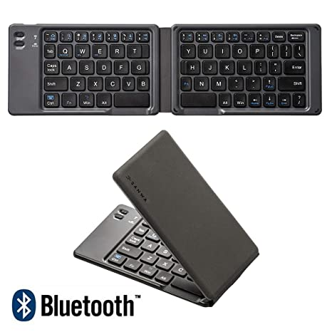 d99b42c5ac9 SANWA [Japan Brand] Ultra-Slim Folding Mini Wireless Bluetooth Keyboard, Rechargeable,