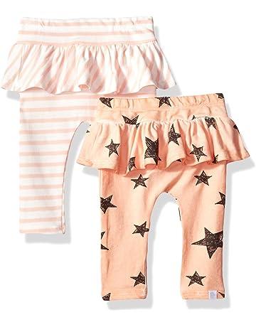 1117522eb36357 Rosie Pope Baby Girls 2 Pack Legging, Peach Stars/Stripes, 6-9