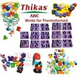 Thikas moldes Alfabeto termaformati Contiene 7 Pares de moldes con Varias Letras Cada uno