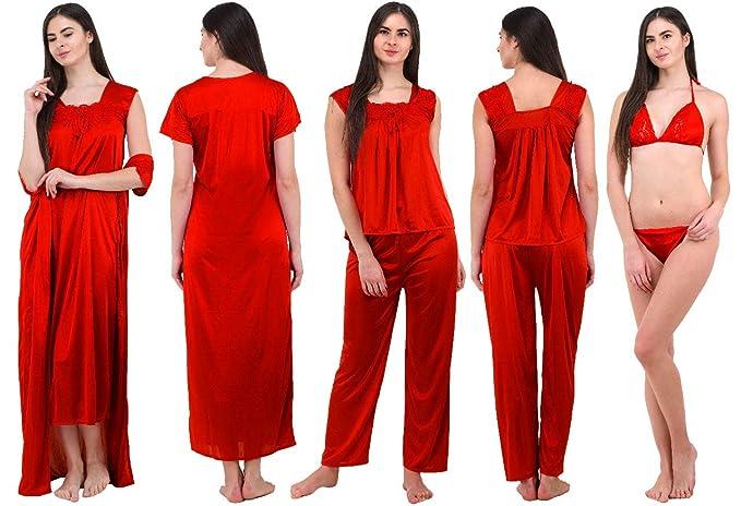 337afce05 GADGET APPLIANCE Women s Satin Nightwear (Maroon