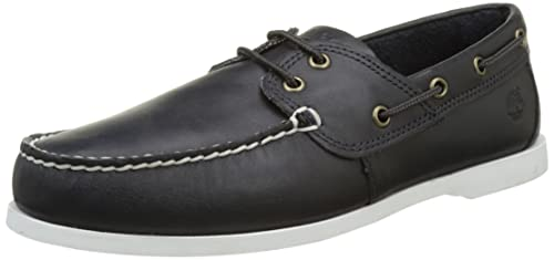 Timberland Men Cedar Bay Boat Shoe,Blue (Navy Galloper Full Grain), 6.5
