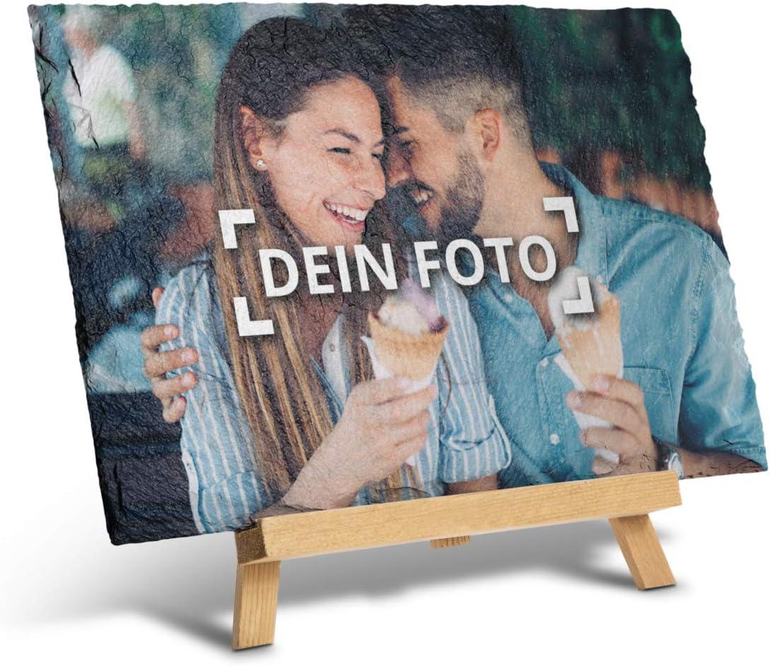 Foto-Druck auf Schieferplatte 20x15 cm Schiefertafel mit eigenem Bild gestalten