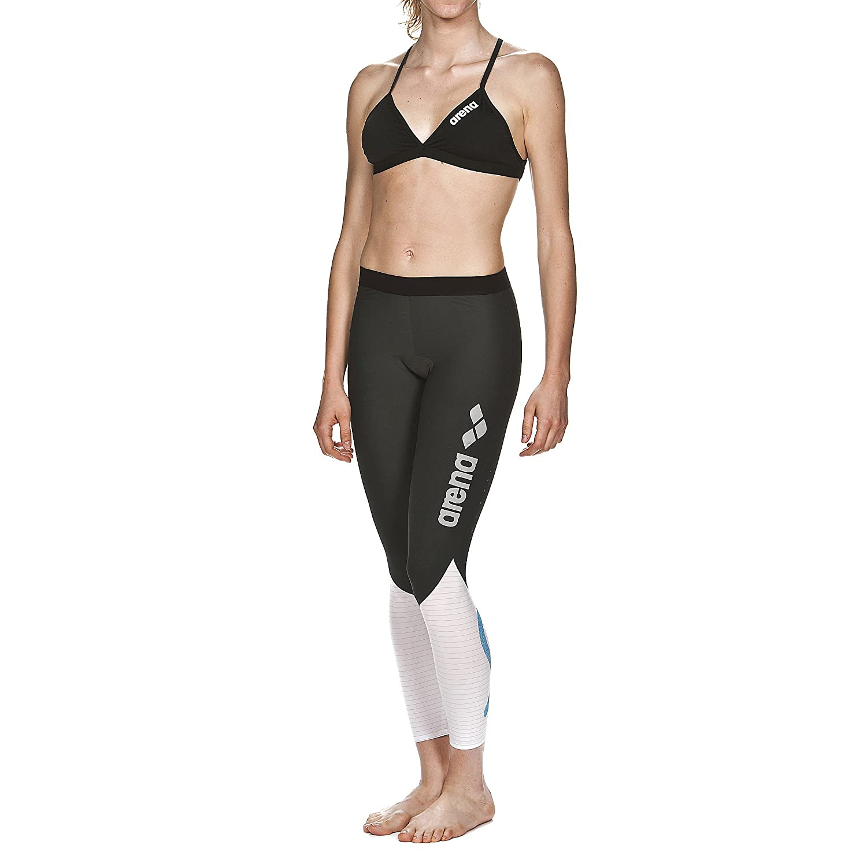Arena Damen Schwim Kompressions Hose Carbon (Atmungsaktiv, Carbon-Material, Durchblutungfördernd)