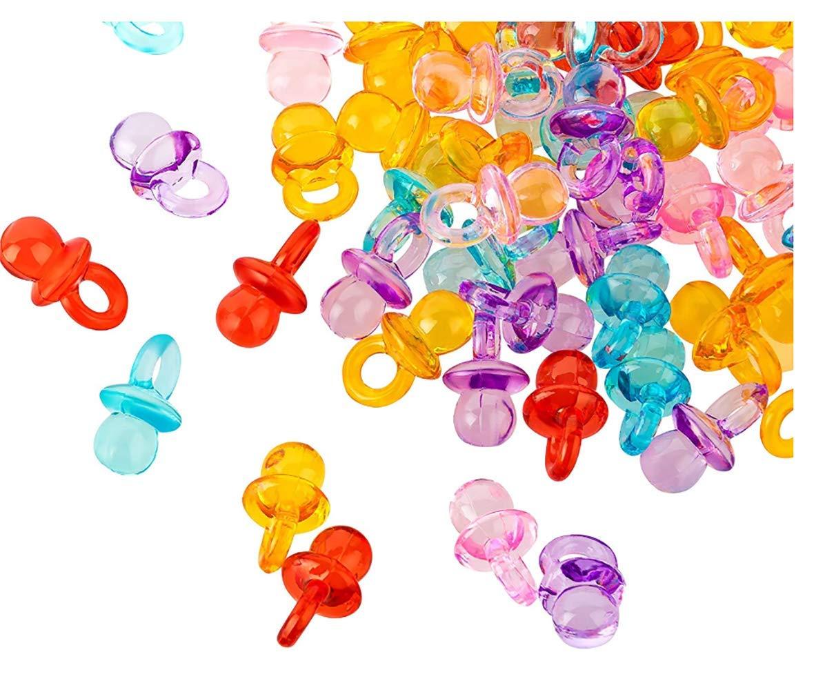 Shuny 200 Pcs Mini Dummy Chupones Mini acrílico Chupete ...