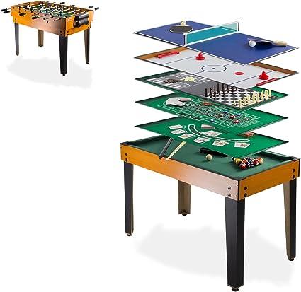 DEMA Tischfußball Multigame 13 in 1, schwarzbraun