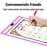 Dry Erase Pockets, Anumit Write and Wipe Reusable