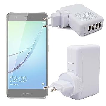 DURAGADGET Cargador De Viaje Blanco para Smartphone Huawei Nova (y ...