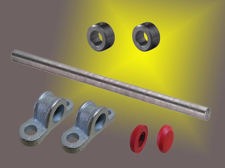 Stahlachse /ø 20mm x1200mm L/änge mit Zubeh/ör f/ür Wagenbau Kippwagen Kippkarre