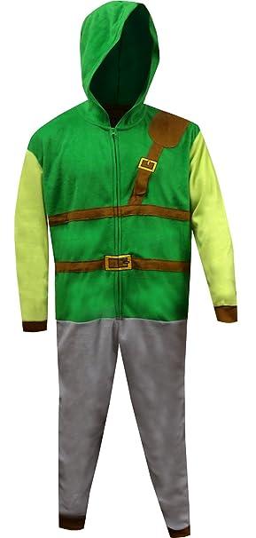The Legend of Zelda Dress Like Link One Piece Pajama for men (Small Medium 7e838c99a
