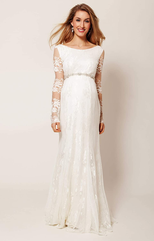 Nanger Hochzeitskleider Schwanger Spitze mit Lange Ärmel Mutterschaft  Brautkleider Wedding Dress Pregnant