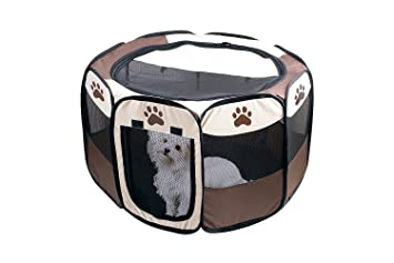 Fantastic Etna Portable Foldable Pet Playpen For Dogs Paw Print Indoor And Outdoor Use Pop Up Traveling Kennel Design Ideal For Keeping Pets Safe And Gmtry Best Dining Table And Chair Ideas Images Gmtryco