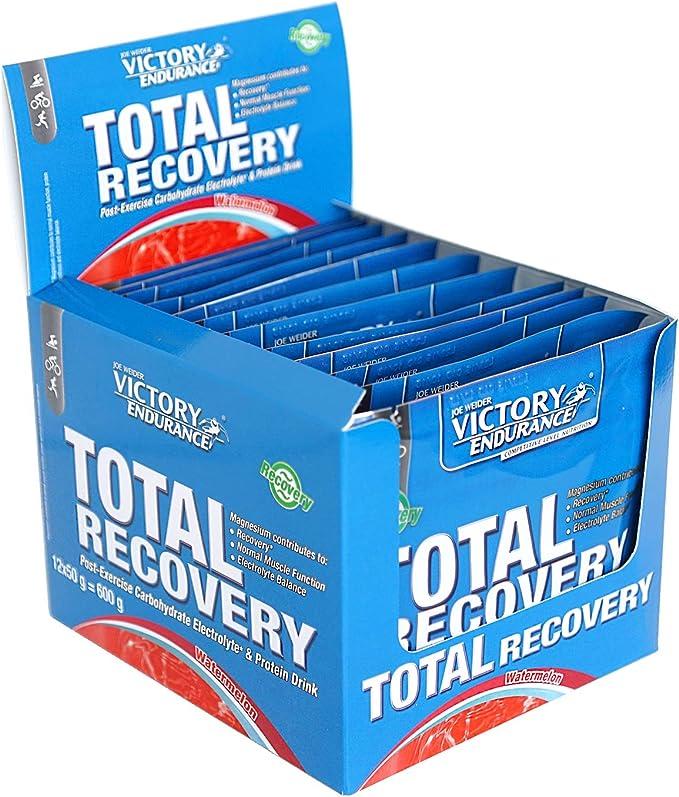 Victory Endurance Total Recovery. Maximiza la recuperación después del entrenamiento. Enriquecido con electrolitos y vitaminas. Sabor Sandía (12 x 50 ...