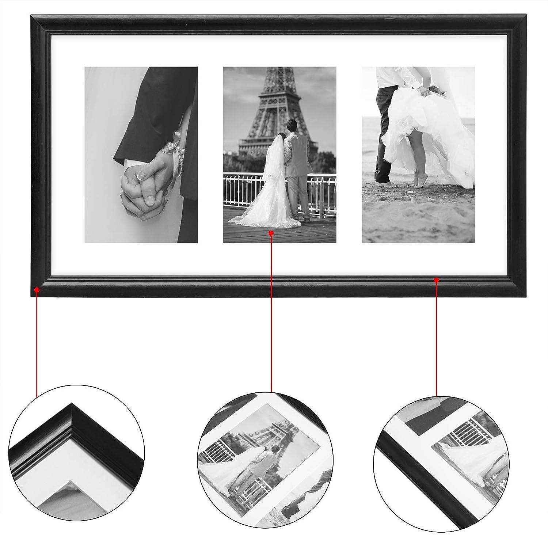 10x15 eSituro Marcos de Fotos Originales Moderno Marcos Fotos Vintage 2X Cumplea/ños Blanco cm Fotos Marcos de Fotos Multiples Marco Fotos para Pared MDF Gift para Regalo