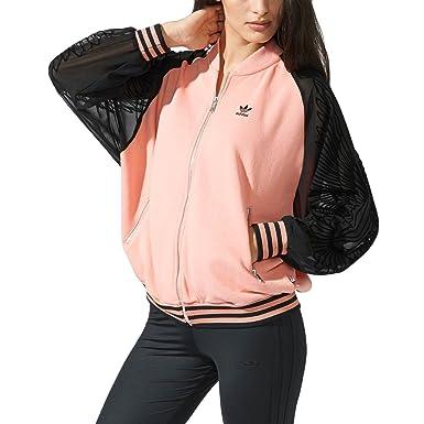 f44951f0 adidas Originals Women's Rita Ora Supergirl Track Top - Pink - 20UK ...