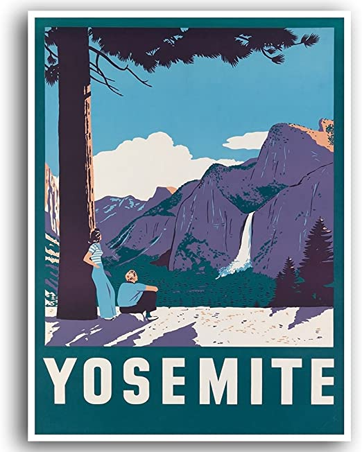 Travel Yosemite National Park California 12X16 Inch Framed Art Print