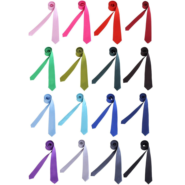 Hombres corbata delgado brillante 5 cm