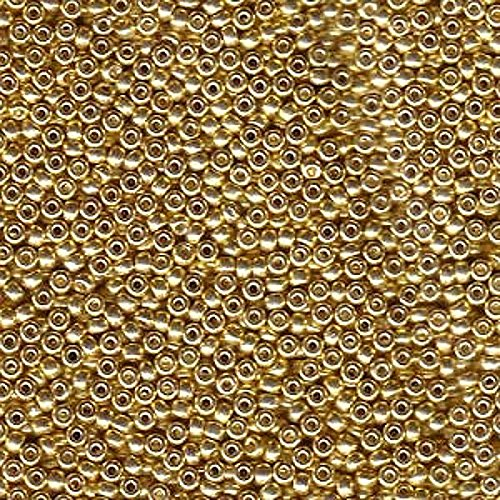 Galvanized Gold Miyuki Japanese round rocailles glass seed beads 11/0 Approximately 24 gram 5 inch ()