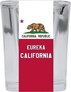 Eureka California Souvenir 2 Ounce Square Shot Glass 4 Pack