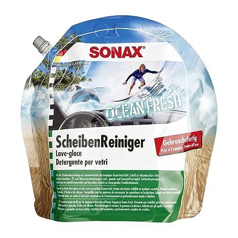 SONAX 128301 líquido limpiaparabrisas Listo para ser Utilizado 3 L ...