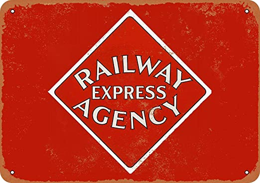 Kia Haop Railway Express Agency Metal Fender Cartel De Chapa ...