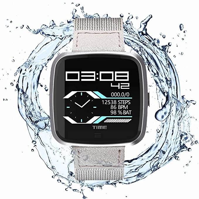 N Newkoin Smart Watch Waterproof Bluetooth Smartwatch, Sports Watch for Men/Women, with All-Day Heart Rate, Calorie and Fitness Tracking, Running ...