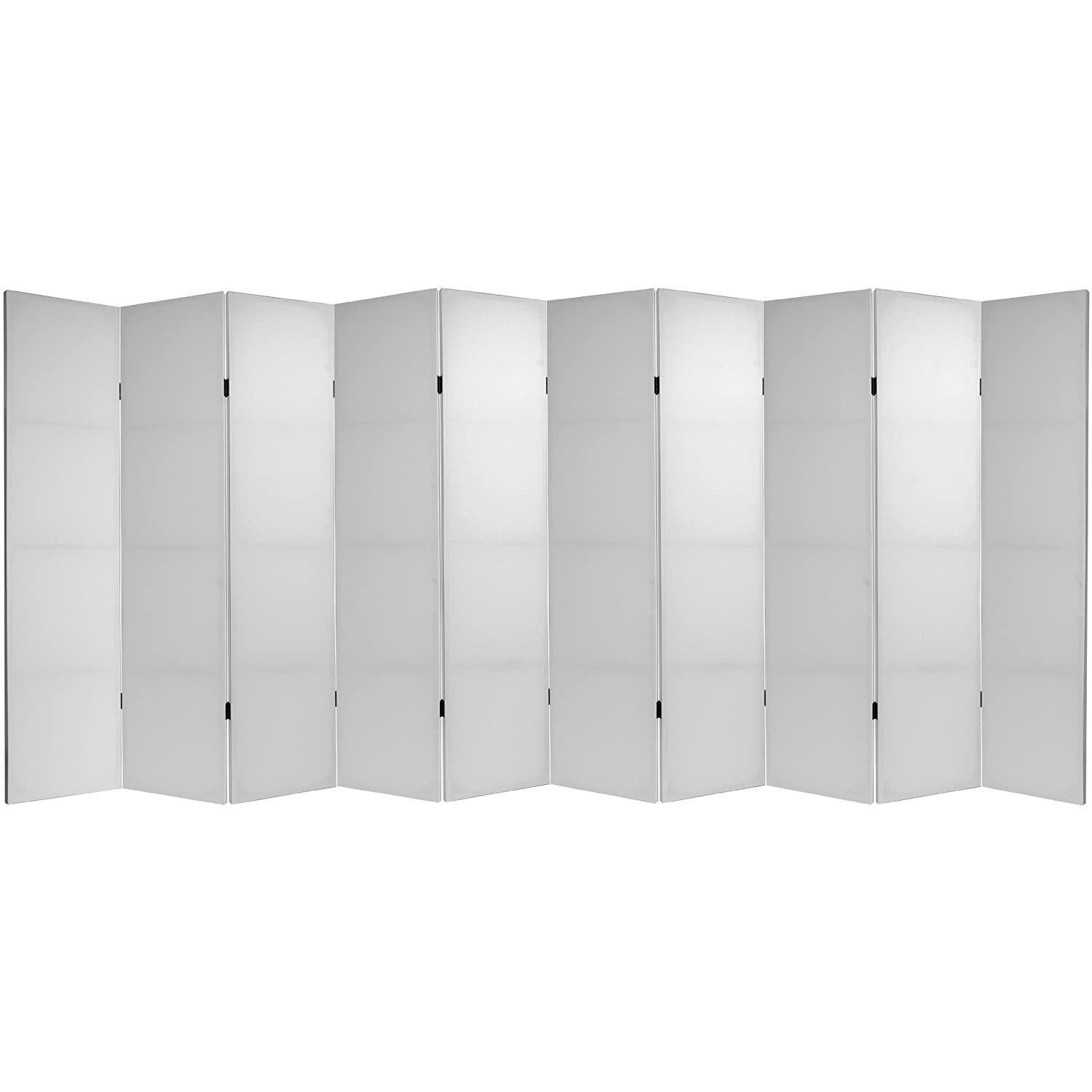 Tall Do It Yourself Canvas Room Divider 4 Panel Oriental Furniture 6 ft