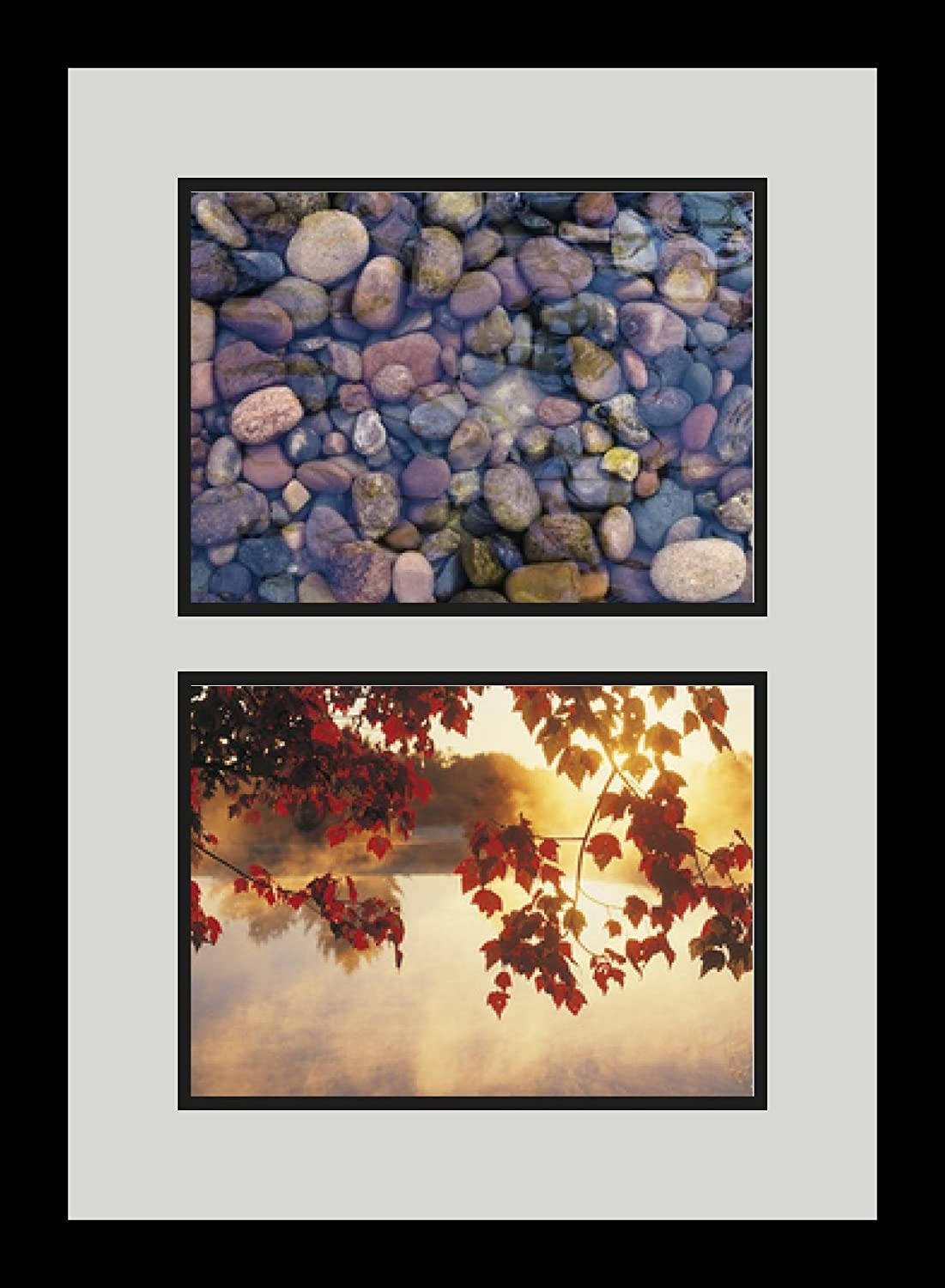 Art to Frames Double-Multimat-1341-756//89-FRBW26079 Collage Photo Frame Double Mat with 2-8x10.75 Openings and Satin Black Frame