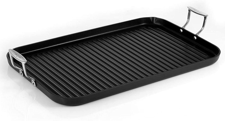 Nonstick Stove Top Grill Pan - PTFE/PFOA/PFOS Free Need two Burners 20