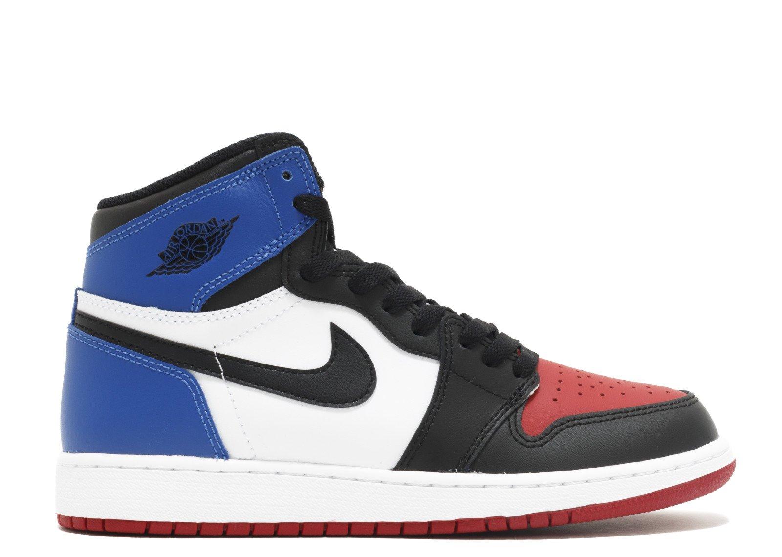 Nike Air Jordan 1 Retro High Top 3 Pick OG BG LTD Sneaker Current Collection black / white / blue / red, EU Shoe Size:EUR 36.5, Color:black