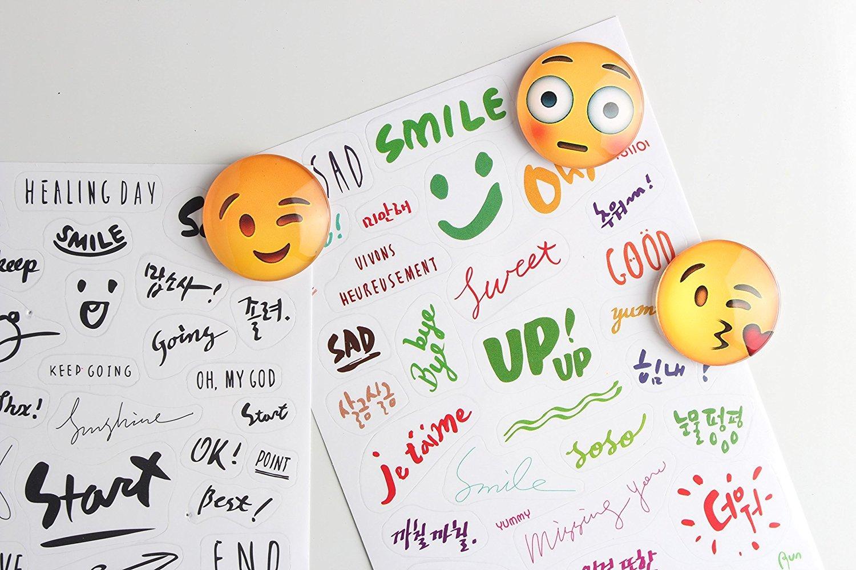 Emoji Fun imanes para frigorífico, imanes para frigorífico paquete de 13 piezas con los adornos de escritorio fults: Amazon.es: Hogar