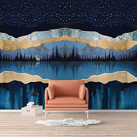Signford Wall Mural Nordic Style Nature Landscape Removable Wallpaper Wall Sticker For Bedroom Living Room 66x96 Inches Amazon Com